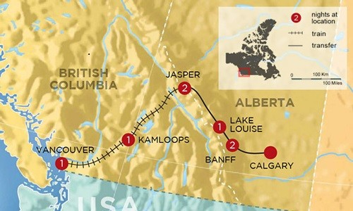 Complete Canadian Rockies by Rail